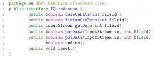 ICoreAccess interface